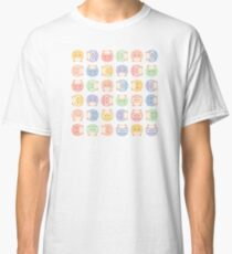 Fluffy owl seamless vector pattern with retro color palette Classic T-Shirt