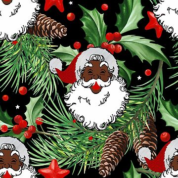 xmas black santa claus by gossiprag