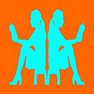 Ladies Love Reading: Aqua & Orange by EvePenman