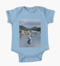 A Row of Boats One Piece - Short Sleeve