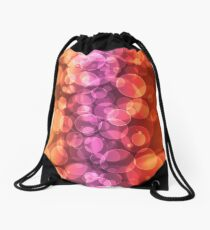 Multicolored defocused bokeh pattern wallpaper. Blurred Background.  Drawstring Bag