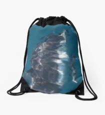 Pacific Whitesided Dolphin in Abstract Drawstring Bag