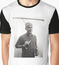 Anthony Bourdain Middle Finger Graphic T-Shirt