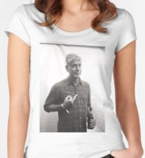 Anthony Bourdain Middle Finger Women's Fitted Scoop T-Shirt