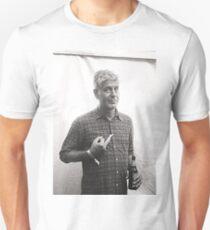 Camiseta unisex Anthony Bourdain dedo medio