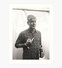 Anthony Bourdain Mittelfinger Kunstdruck