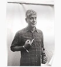 Anthony Bourdain Middle Finger Poster
