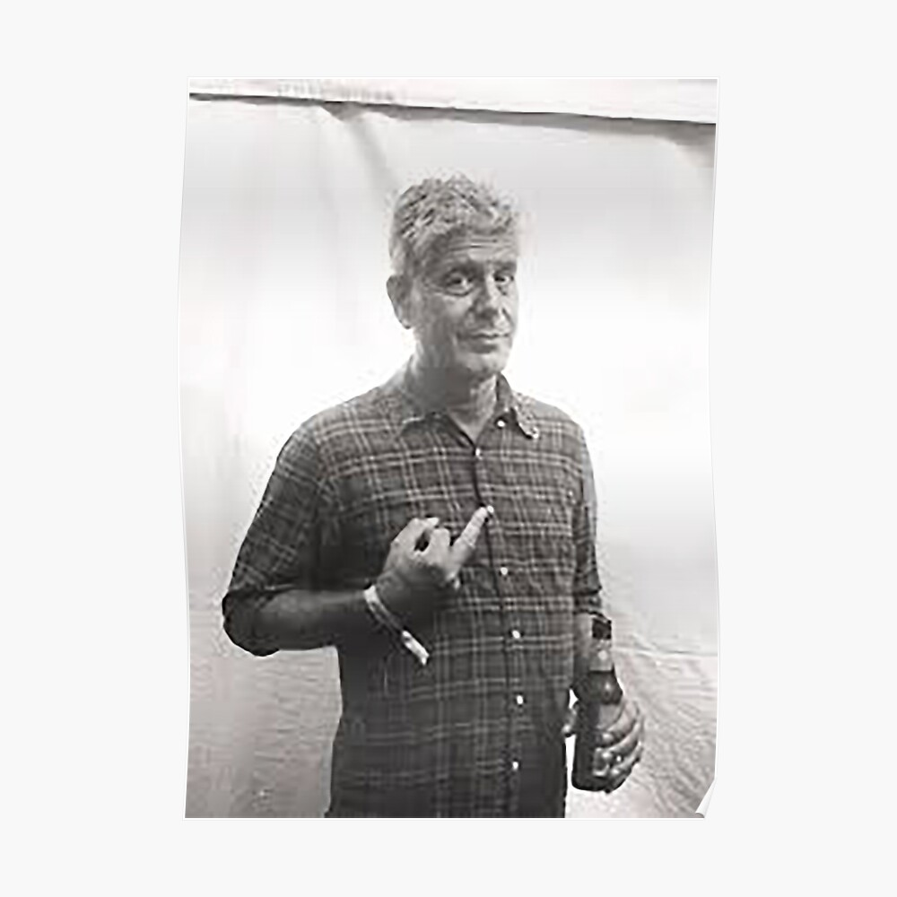 Anthony Bourdain Mittelfinger Poster