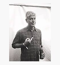 Anthony Bourdain Middle Finger Photographic Print
