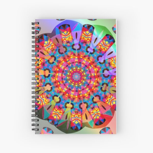 Colors and Blooms Spiral Notebook