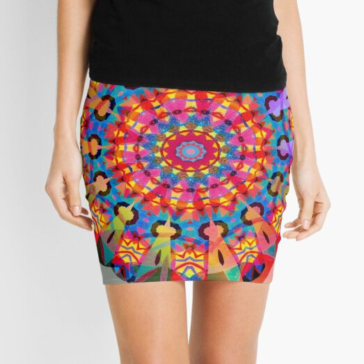 Colors and Blooms Mini Skirt