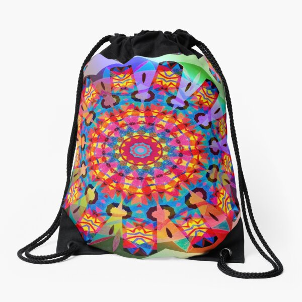 Colors and Blooms Drawstring Bag