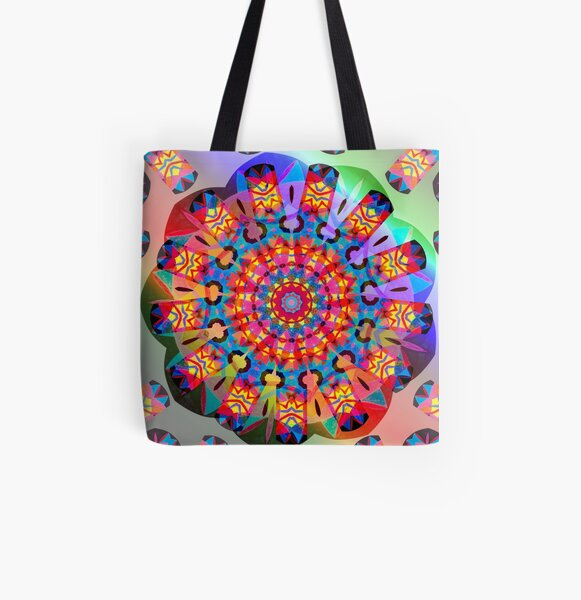 Colors and Blooms All Over Print Tote Bag