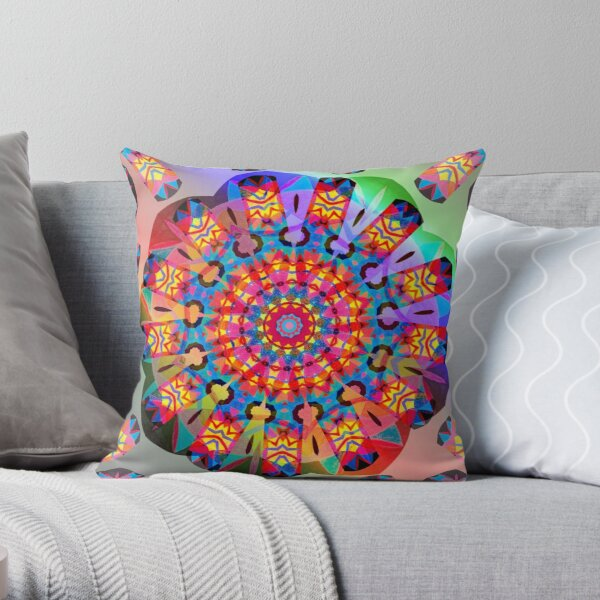 Colors and Blooms Throw Pillow