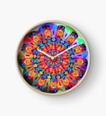 Colors and Blooms Clock