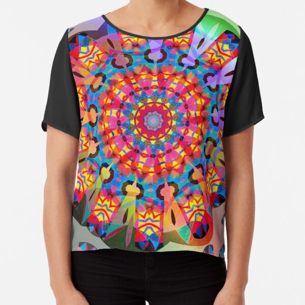 Colors and Blooms Chiffon Top