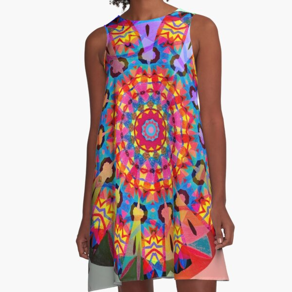 Colors and Blooms A-Line Dress