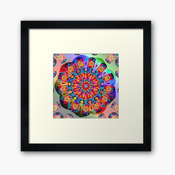 Colors and Blooms Framed Art Print