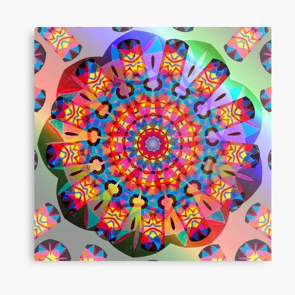 Colors and Blooms Metal Print