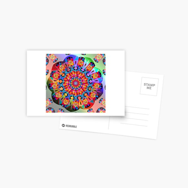 Colors and Blooms Postcard