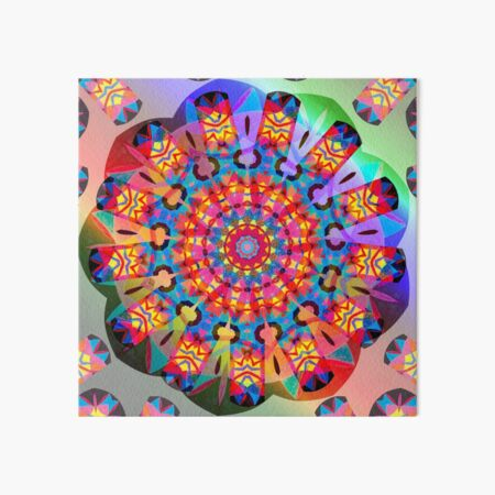 Colors and Blooms Art Board Print