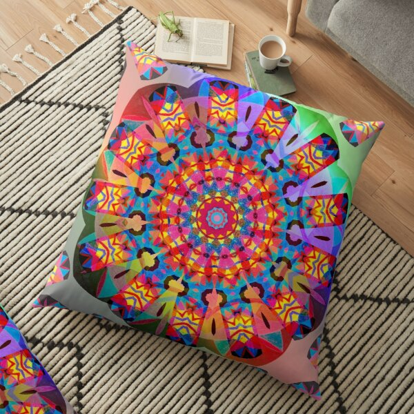Colors and Blooms Floor Pillow