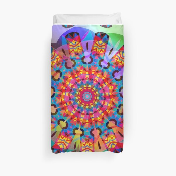 Colors and Blooms Duvet Cover
