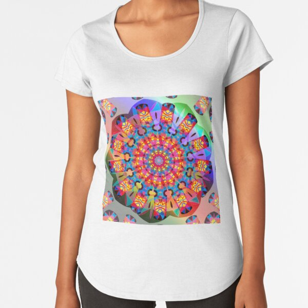 Colors and Blooms Premium Scoop T-Shirt