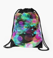 Abstract multicolored defocused bokeh pattern background as wallpaper. Drawstring Bag