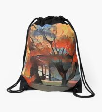 Autumn Colors In Kyoto Drawstring Bag