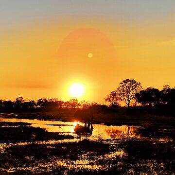 Elephant reflection at sunset by 8kPzGZjJ20Rj
