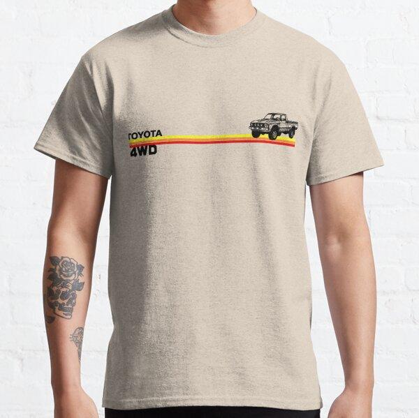 Toyota 4WD Truck Retro Stripes Classic T-Shirt