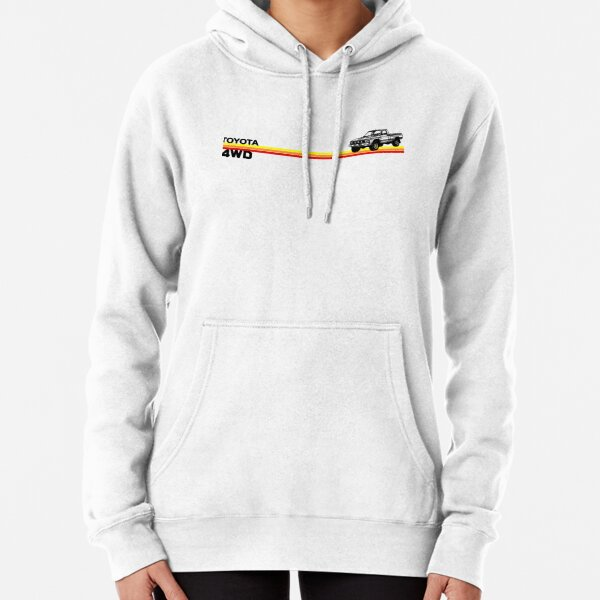 Toyota 4WD Truck Retro Stripes Pullover Hoodie