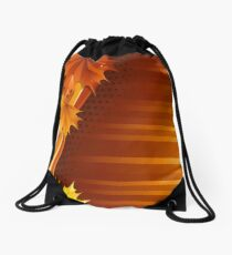 Fall Abstract Drawstring Bag