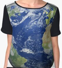 #map #sphere #environment #cartography #atmosphere #hemisphere #pollution #longitude #space #colorimage #planetspace #astronomy #360degreeview #wide #continentgeographicarea #physicalgeography Chiffon Top
