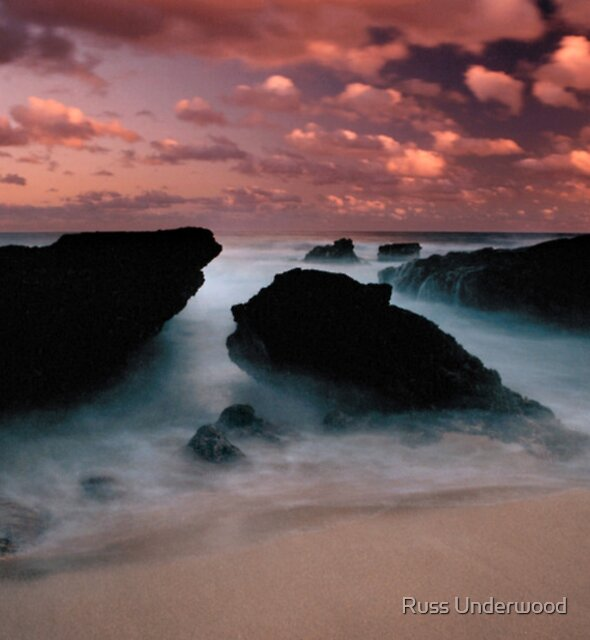 Makapuu Surf at Dusk by Russ Underwood