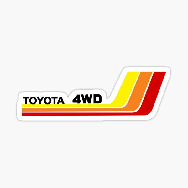 Vintage Racing Stripes Toyota 4WD  Sticker