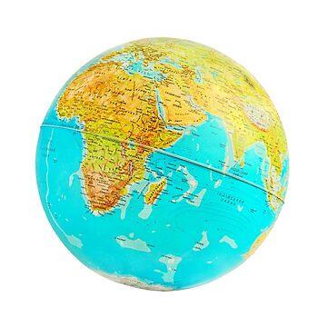Earth Globe In Ukrainian language. by IaroslavB