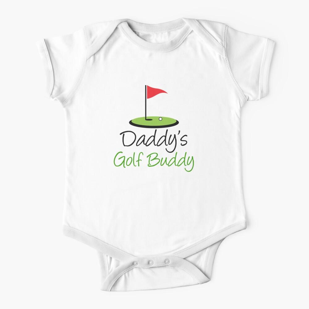 Daddy's Golf Buddy With Golf Flag Baby One-Piece