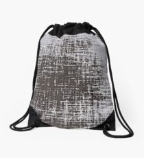 Woven Grey Abstract Drawstring Bag