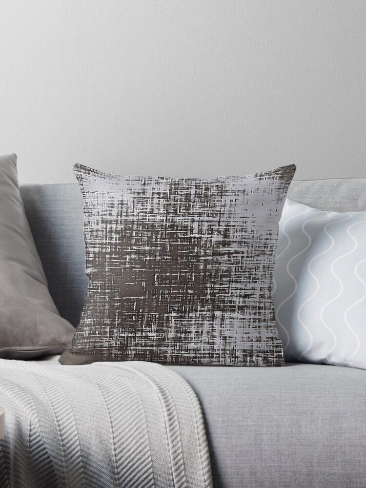 Woven Grey Abstraction Throw Pillow By Taiche Redbubble