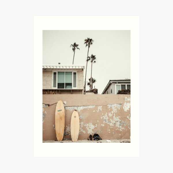 San Diego Surfing Art Print