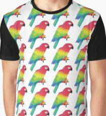 Painted parrots pattern Graphic T-Shirt