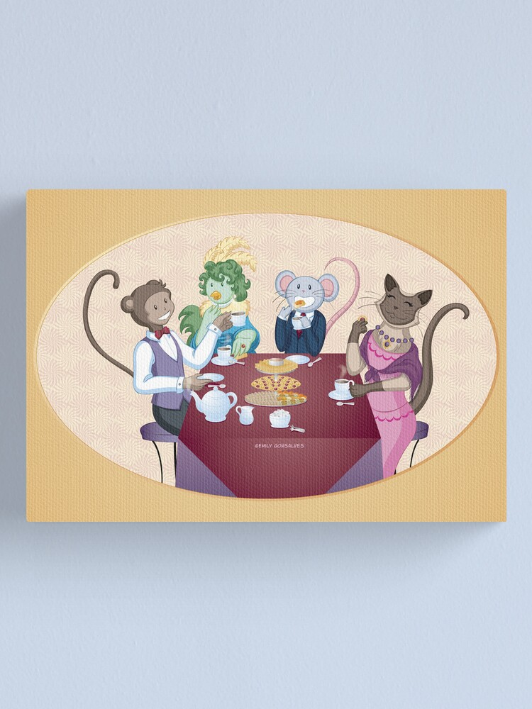 Alternate view of Animal Tea Party Canvas Print