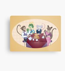 Animal Tea Party Metal Print