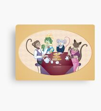 Animal Tea Party Canvas Print