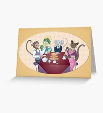 Animal Tea Party Greeting Card