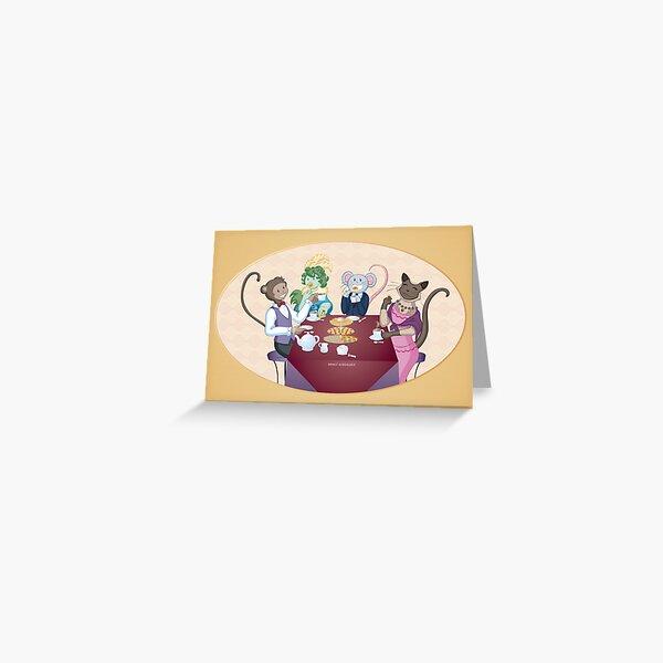 Animal Tea Party Greeting Card