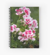 Geraniums two tone Spiral Notebook