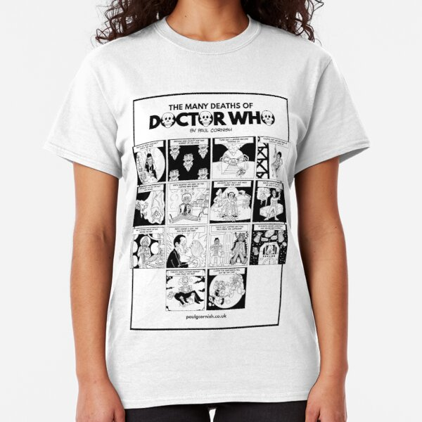 The Many Deaths of Doctor Who Classic T-Shirt